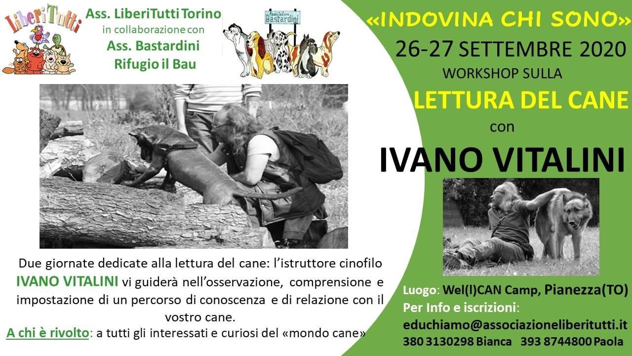 INDOVINA CHI SONO…26-27 settembre 2020 Workshop con IVANO VITALINI